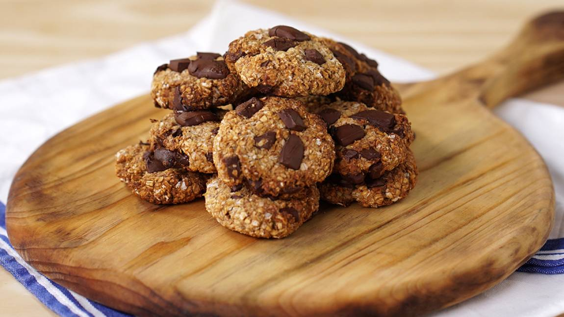Receita de Cookie de Banana com Aveia e Chocolate
