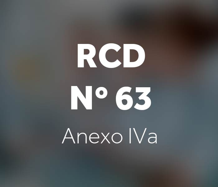 Resolução da Diretoria Colegiada – RCD n° 63 - Anexo IVa